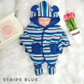 Jual- Baby Cape set Stripe Blue