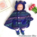 Jual- BabyCape Scandinavian Blue with booties