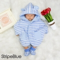 Jual- BabyCape Set Booties StripeBlue