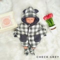 Jual- Check Grey set