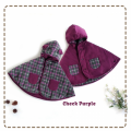 jual-babycape- Check Purple