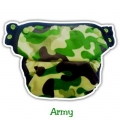 1. Clodi Ecobum Pull Up Pant Minky Army - Motif Boy