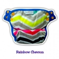 NEW 10. Clodi Ecobum Pull Up Pant Minky Rainbow Chevron - Motif Unisex
