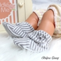 Jual- Fitted Booties StripeGrey