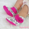 Jual- Fitted Booties leopard pink