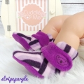 Jual- Fitted Booties stripe purple