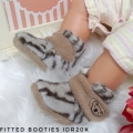 Jual- Fitted Booties tiger white