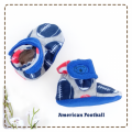 fitted-booties-prewalker- American Football Motif