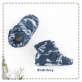 fitted-booties-prewalker- Birds grey Motif