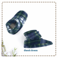 fitted-booties-prewalker- Check Green Motif