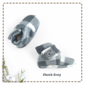 fitted-booties-prewalker- Check Grey Motif
