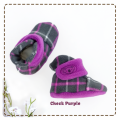fitted-booties-prewalker- Check Purple Motif