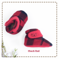 fitted-booties-prewalker- Check Red Motif