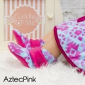 fitted-booties-prewalker- Fitted Booties Aztec Pink