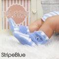 fitted-booties-prewalker- Fitted Booties StripeBlue