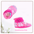 fitted-booties-prewalker- Scandinavian Pink Motif