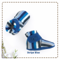 fitted-booties-prewalker- Stripe Blue Motif