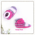 fitted-booties-prewalker- Stripe Pink Motif