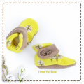 fitted-booties-prewalker- Tree Yellow Motif
