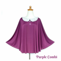 apron-menyusui-nursing-cape-cuddleme- Purple Combi