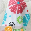 apron menyusui_nursing_cover_orange_motif_bunga