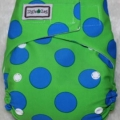 blue-green-polka
