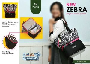 coolerbag gabag new zebra