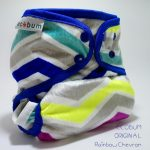 Ecobum original minky rainbow chevron